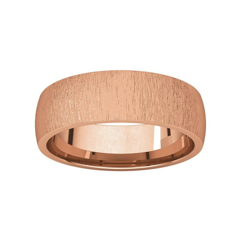 The Dome Comfort Fit (6mm) in rose gold