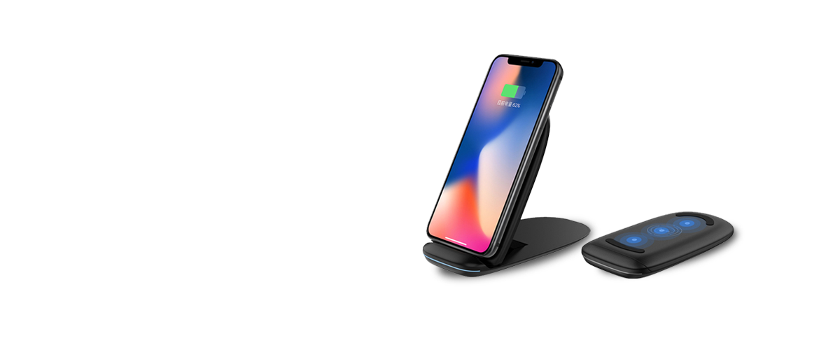 Qi Wireless Charger for: iPhone X Samsung S9  Note 8