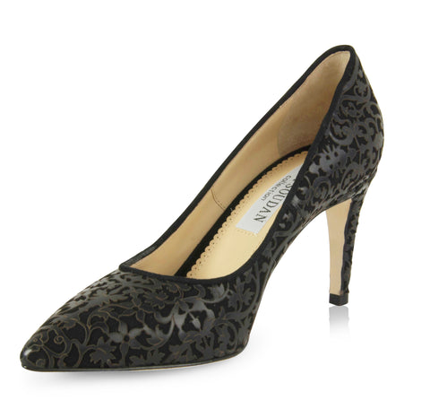 Shirley - Laser Black (Mid-Heel), Shoes - Tori Soudan Collection