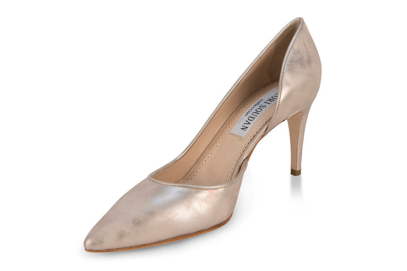 Metallic Ivory Pumps