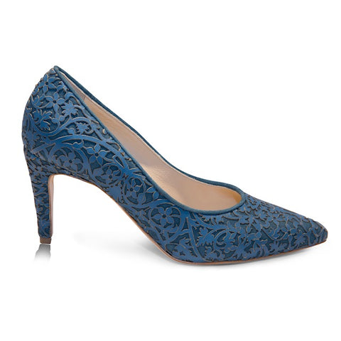 Shirley -  Laser Blue (Mid-Heel), Shoes - Tori Soudan Collection