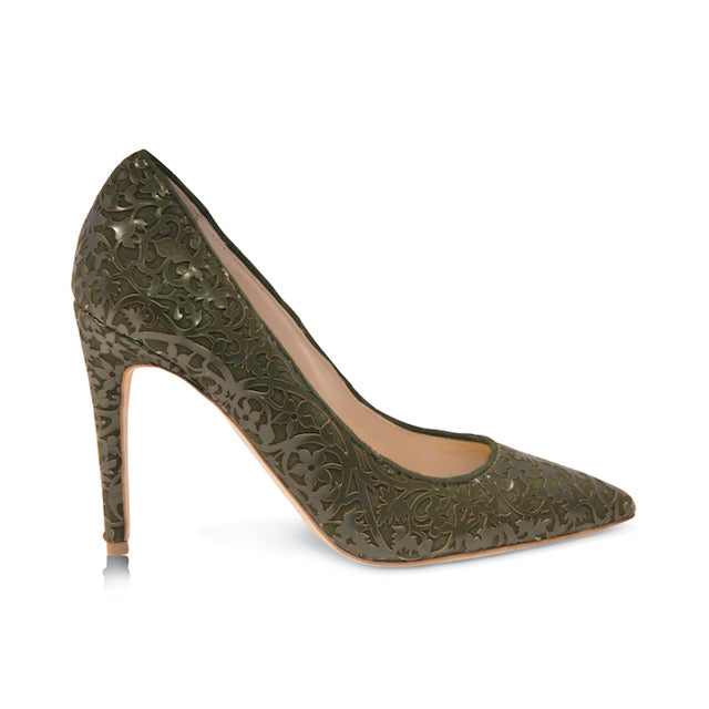Shirley -  Laser Green, Shoes - Tori Soudan Collection