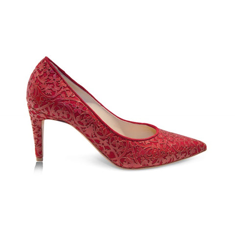Shirley - Laser Red (Mid-Heel), Shoes - Tori Soudan Collection