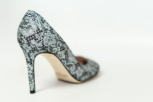 Black & White Lace Pumps