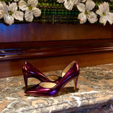 metallic purple pumps