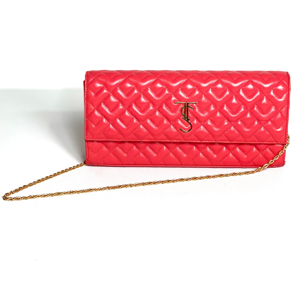 Madison Clutch-Coral