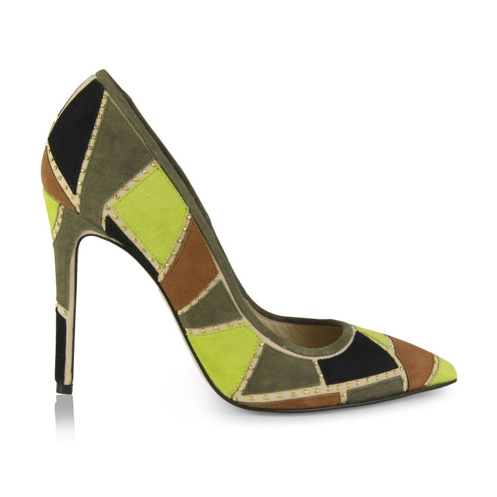 Shirley Patchwork-Green, Shoes - Tori Soudan Collection
