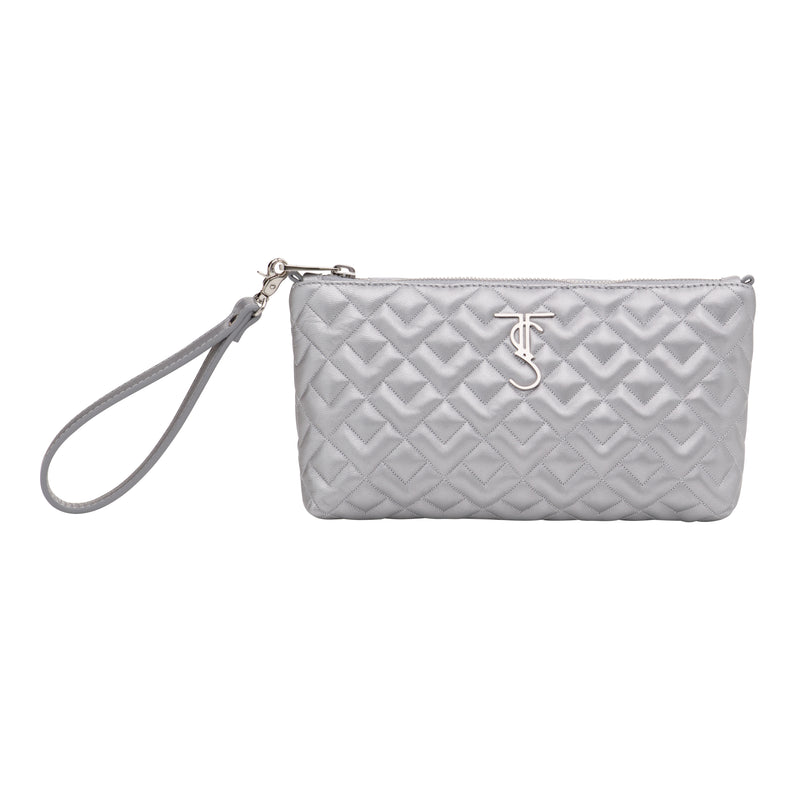 Madison Crossbody/Wristlet-Silver (preorder)
