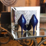 Shirley -  Midnight Blue Patent (Mid-Heel)