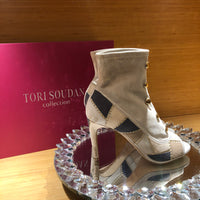 Menia Patchwork- Beige, Shoes - Tori Soudan Collection