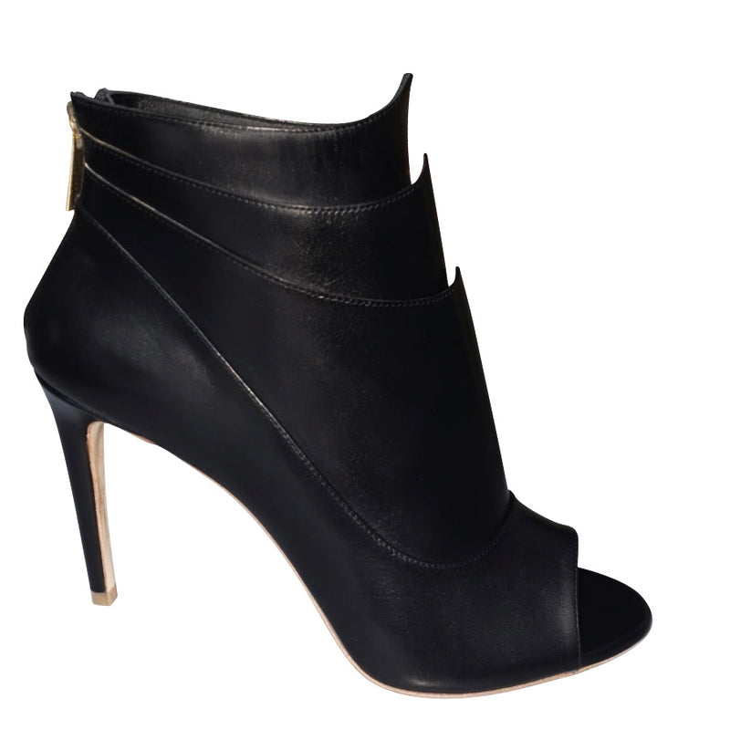 Kelsie Peep Toe-Black