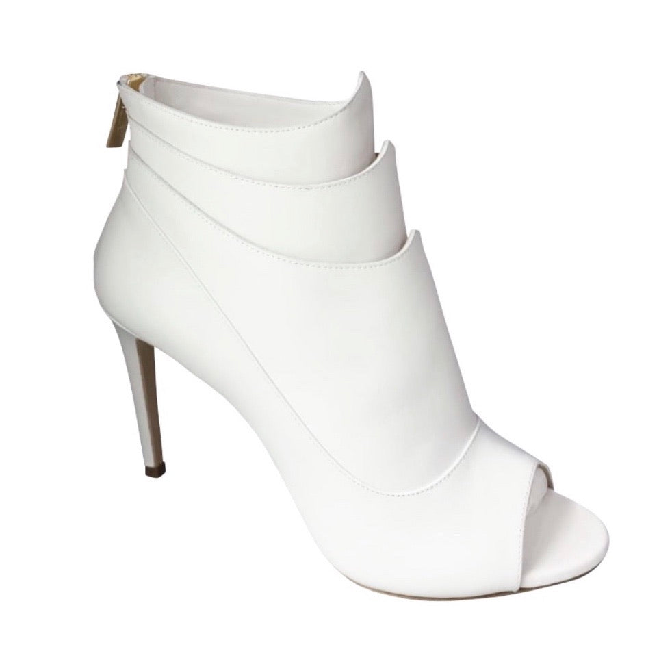 Kelsie Peep Toe - Uninterrupted White (Ships by March 5th)