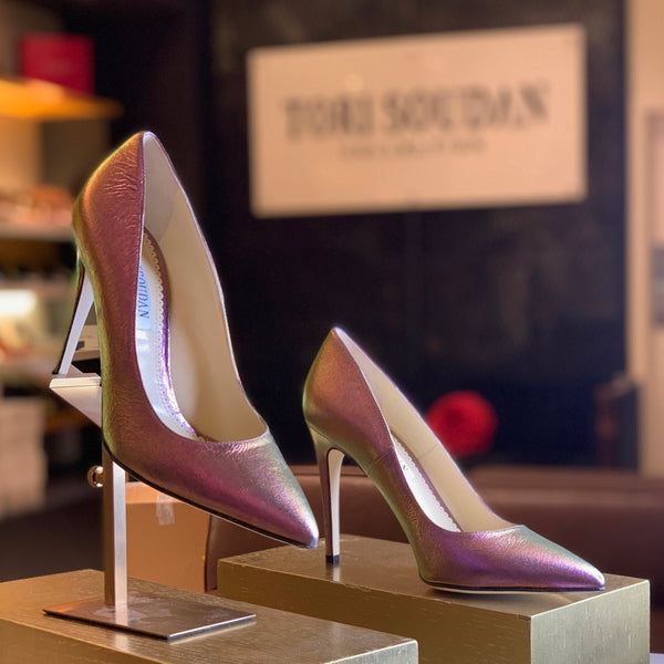 Shirley Iridescent Pink, Shoes - Tori Soudan Collection