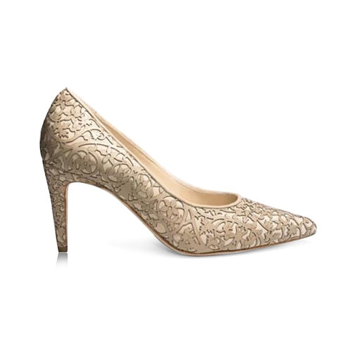 Shirley -  Laser Beige (Mid-Heel), Shoes - Tori Soudan Collection