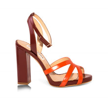 Kimberly -Maroon & Orange, Shoes - Tori Soudan Collection