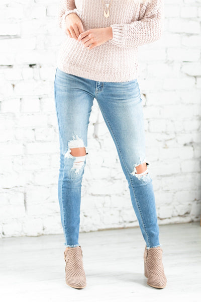 KanCan Frayed Bottom Jeans