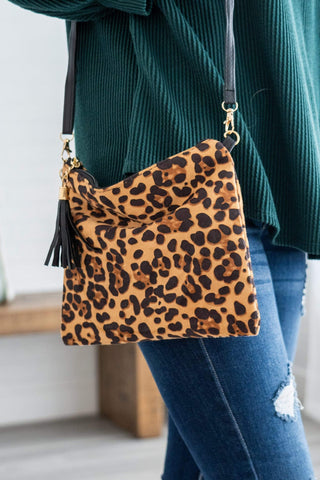 Cross Body Purse Light Leopard