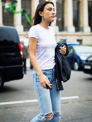 White Tee And Jeans - Liam And Co.