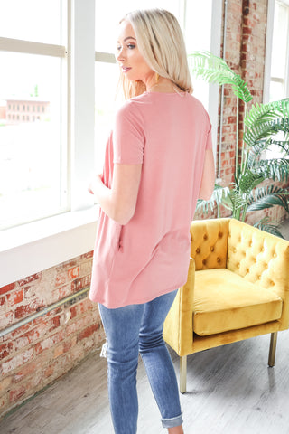 Camille Cuffed Sleeve V-Neck