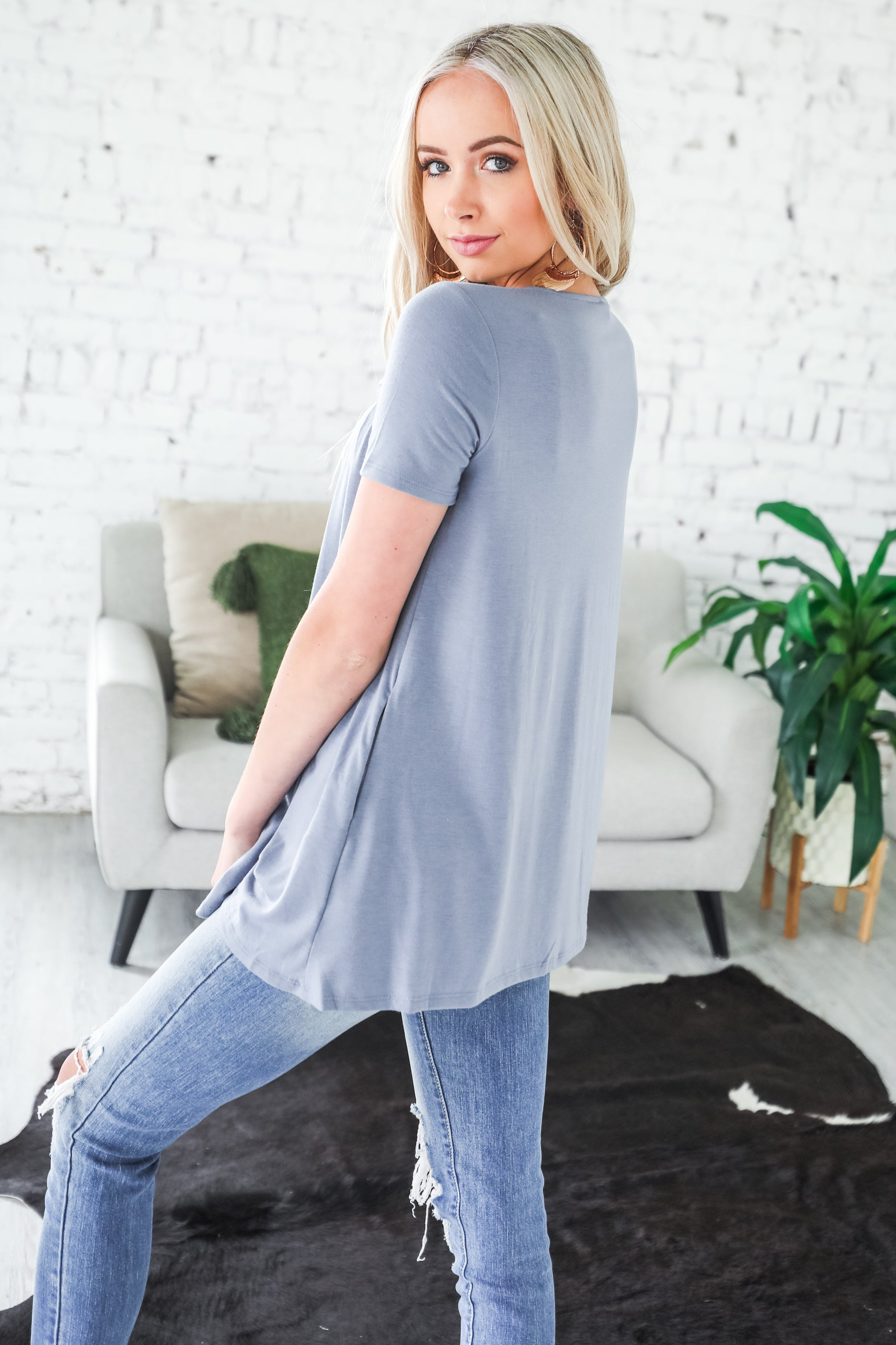Kinsley Color Block Knot Top