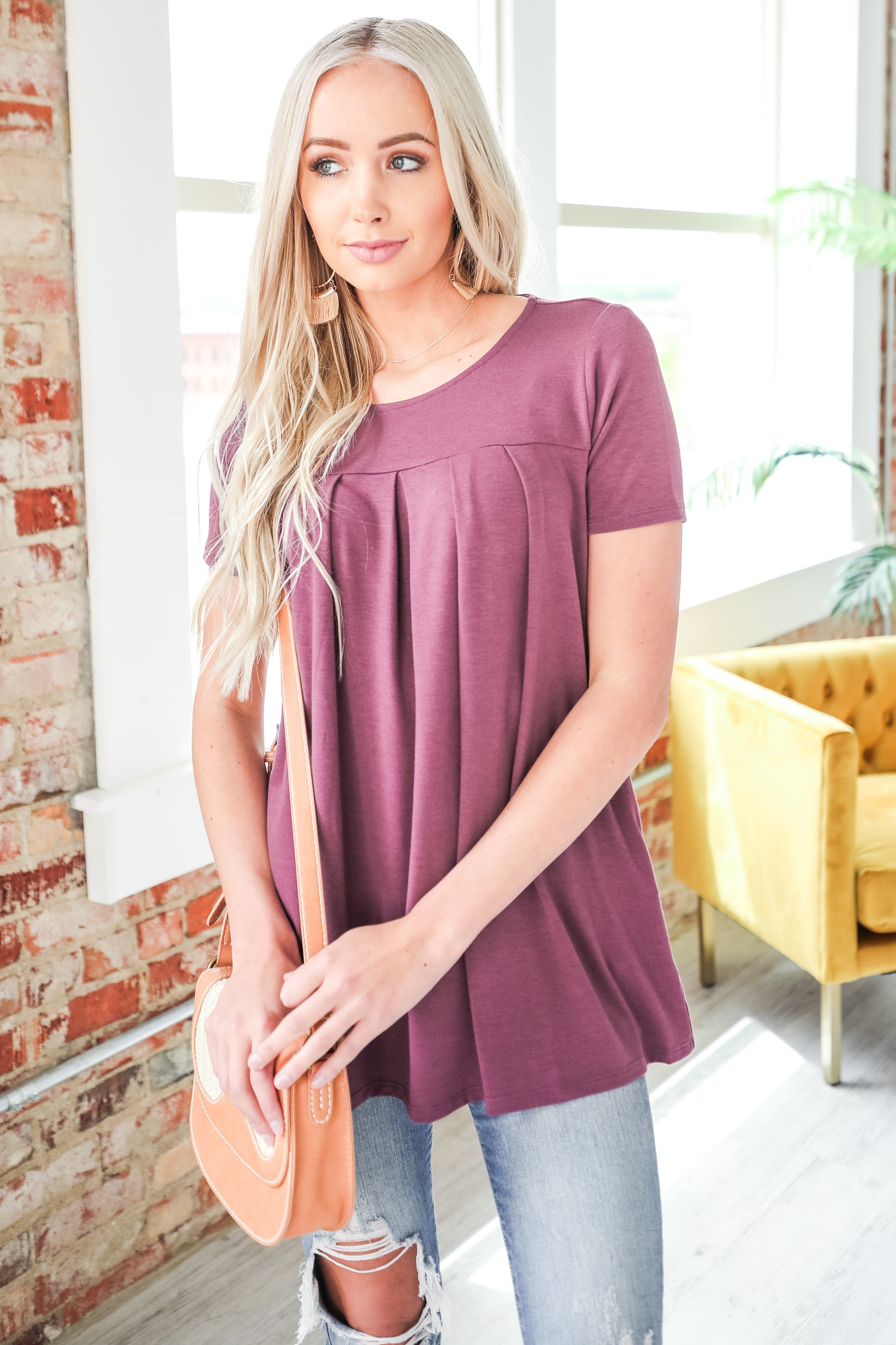 Long Sleeve V-Neck Swing Tunic