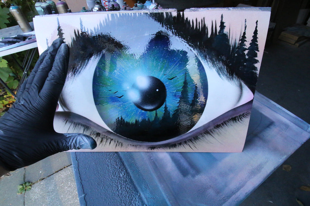 Eye of the Forrest - SPRAY PAINT ART by Skech