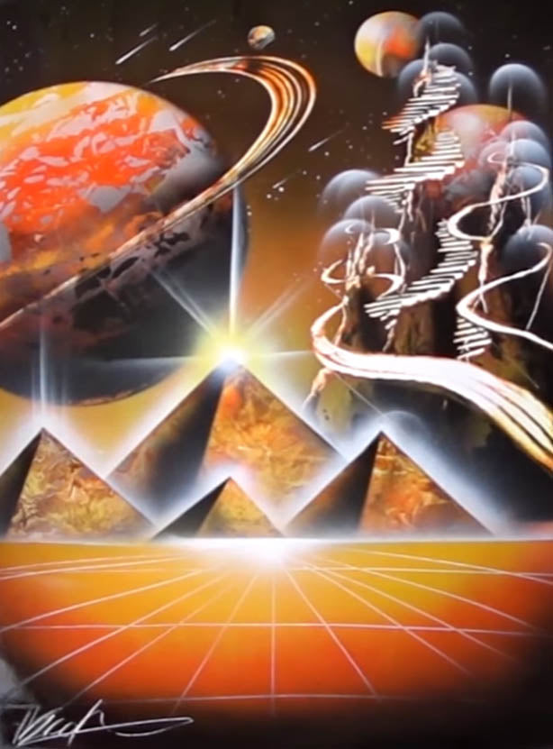 Pyramids in space