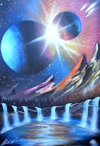 SPRAY PAINT ART by Skech Clash of the planets
