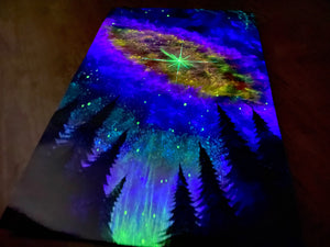 Nebula above forest