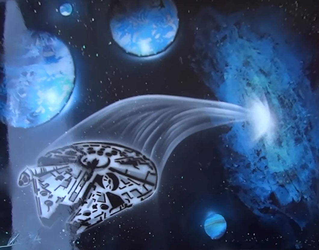 Millennium Falcon from hyperspace