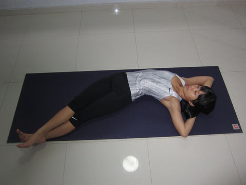 Banana Pose Yin Yoga