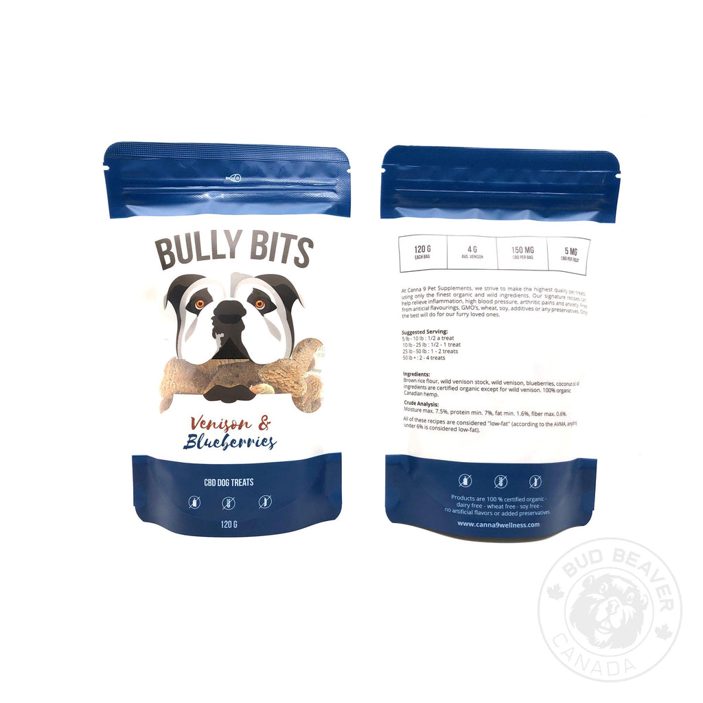 CBD PET CARE - BULLY BITS – BLUEBERRY & VENISON