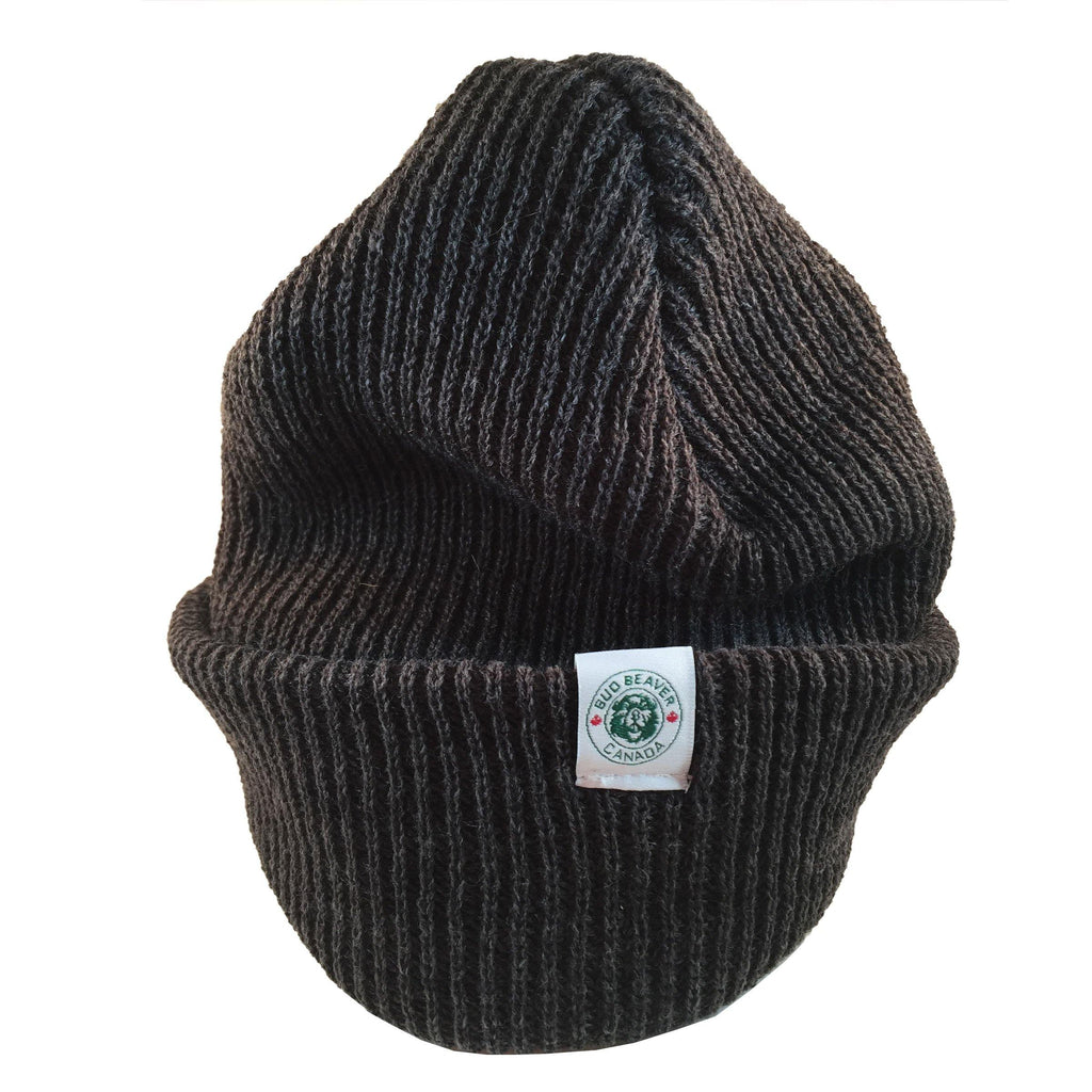 bud beaver toque wide brim charcoal