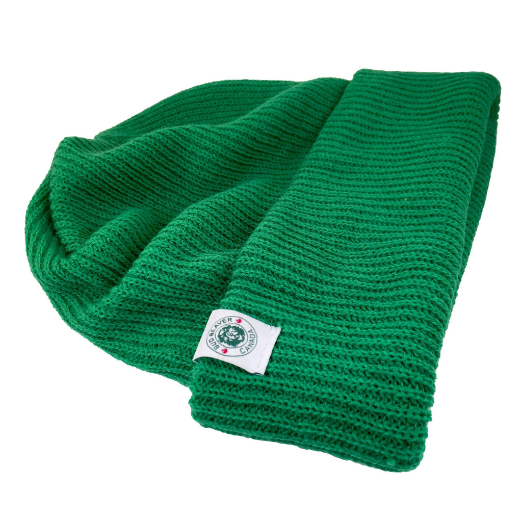 bud beaver toque wide brim green