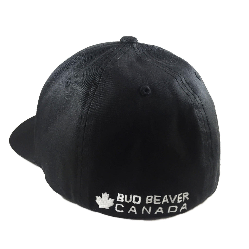 Back View of Bud Beaver Pre Curved Flex Fit Twill