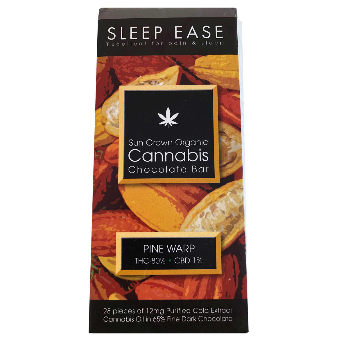 SLEEP EASE - Sun Grown Organic Cannabis Chocolate Bar