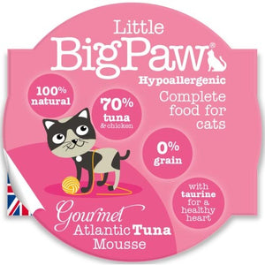 Pack 8 Mousses Little Big Paw Chat 85g - Saveur Thon