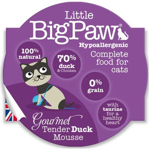 Pack 8 Mousses Little Big Paw Chat 85g - Saveur Canard