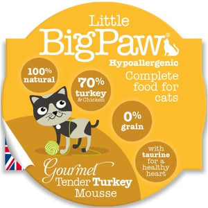 Pack 8 Mousses Little Big Paw Chat 85g - Saveur Dinde