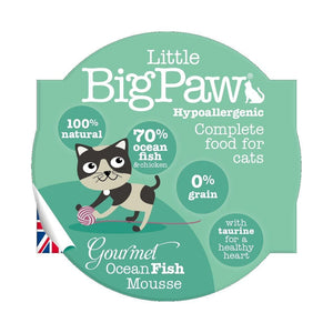 Pack 8 Mousses Little Big Paw Chat 85g - Saveur Poissons