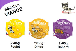Pack 6 Mousses Little Big Paw Chat 85g - Sélection Viande