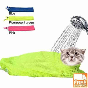 Cat Grooming Mesh Bathing Bag