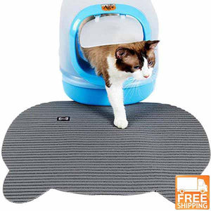 Cat litter box mat