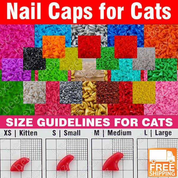 Cat\'s Soft Nail Caps For Declawing Alternatives + Free Shipping ...