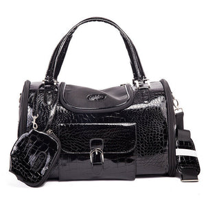 leather pet carrier purse