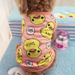 Adorable Dog PJs With Duck Motive