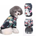 Fashionable Dog Jacket With A Floral Print