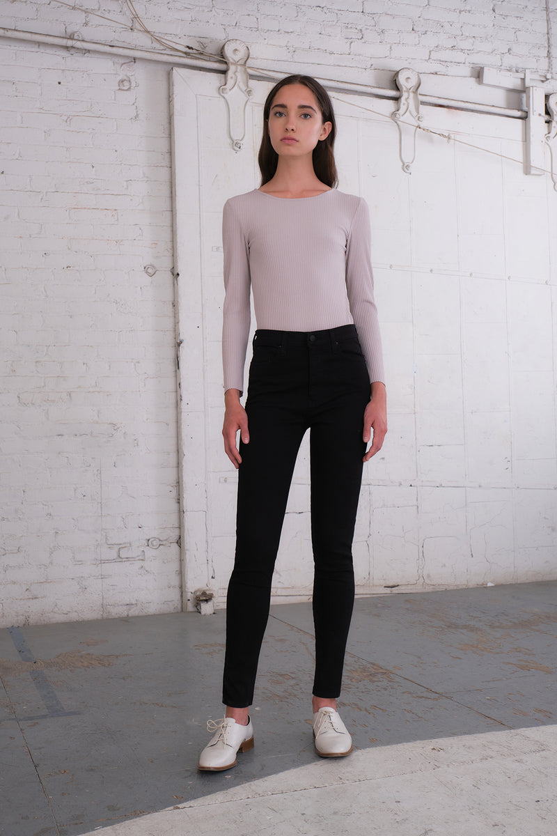Zuma - Mauve Long Sleeve Scoop Neck Top