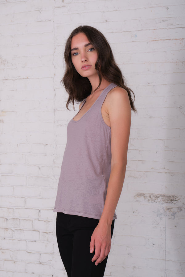 Malibu - Light Grey Racerback Tank