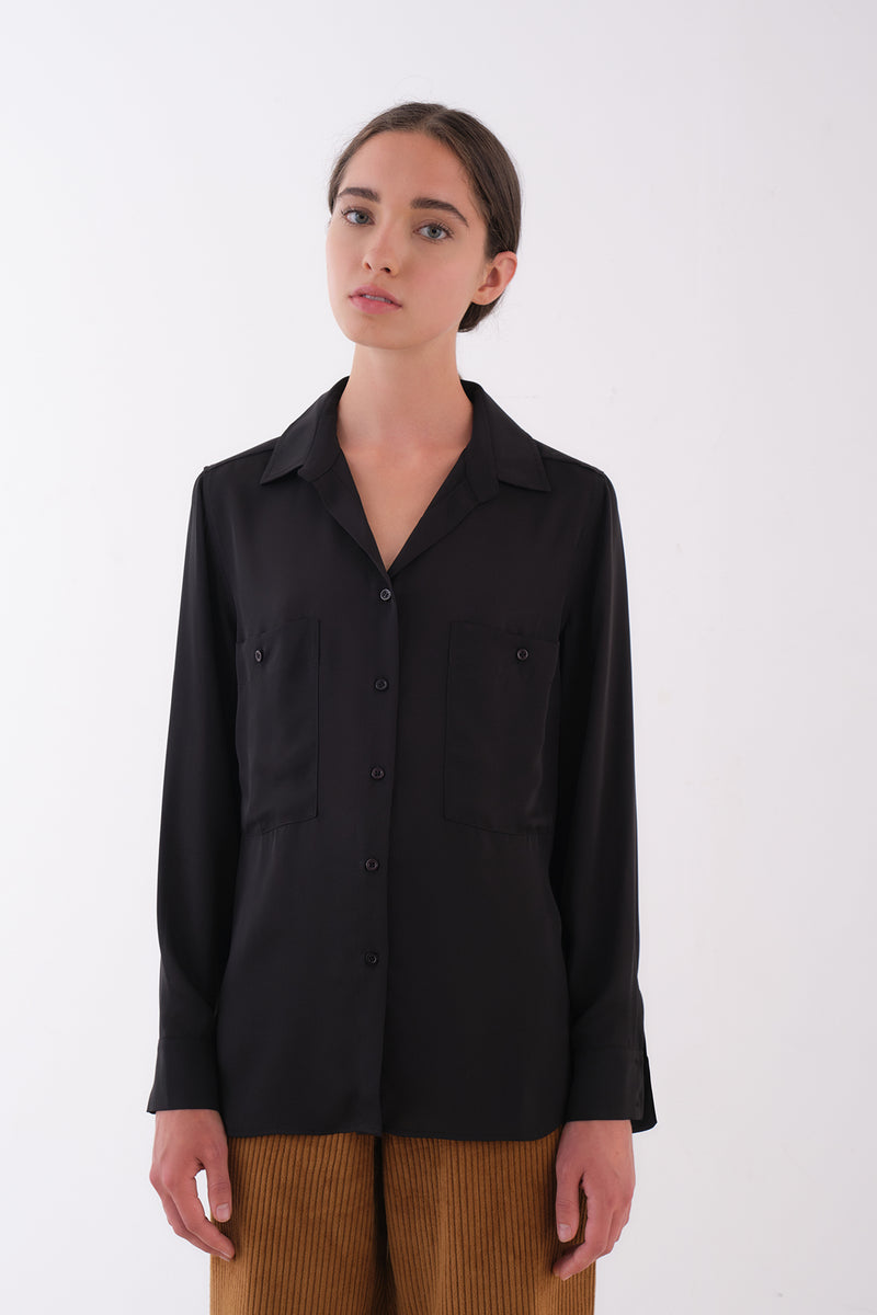 Sonora - Black Relaxed Button Up